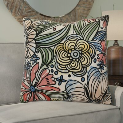 Natahsa Zentangle Floral Euro Pillow Color: Red
