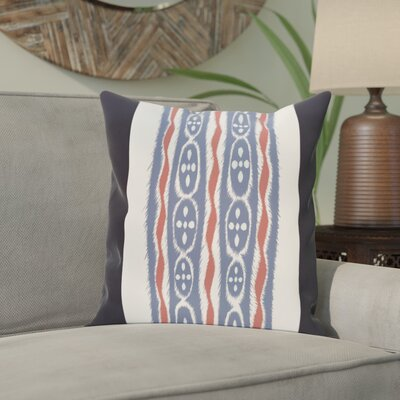 Atilla Stripes Print Outdoor Pillow Color: Bewitching, Size: 16 H x 16 W x 1 D