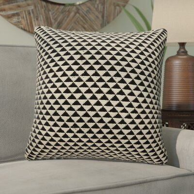 Sophia Cotton Throw Pillow Color: Tobacco Brown/Antique White