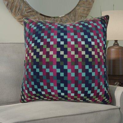 Echo Mad for Plaid Geometric Euro Pillow Color: Purple