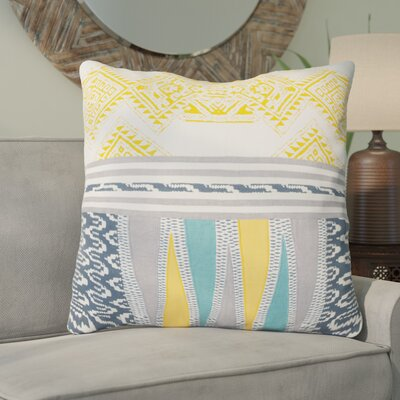 Floriana Cotton Throw Pillow Color: Yellow