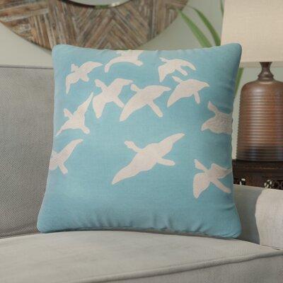 Jaimey Animal Print Cotton Throw Pillow Color: Blue