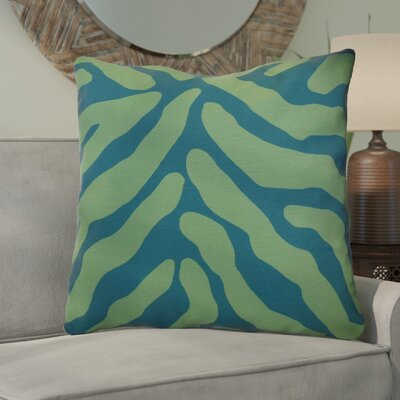 Kam Animal Striped Geometric Euro Pillow Color: Teal