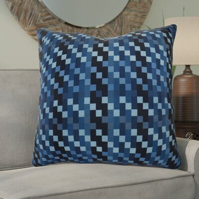 Liam Mad for Plaid Geometric Euro Pillow Color: Blue