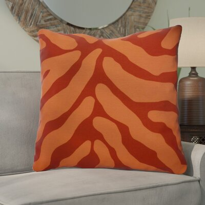 Kam Animal Striped Geometric Euro Pillow Color: Orange