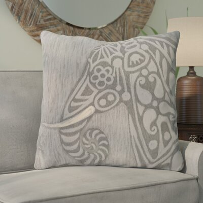Corbit Inky Safari Print Throw Pillow Color: Gray/Gray