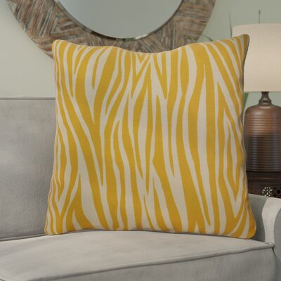 Kam Wood Striped Geometric Euro Pillow Color: Gold