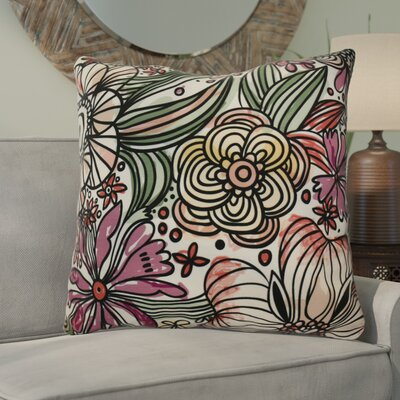 Natahsa Zentangle Floral Euro Pillow Color: Purple