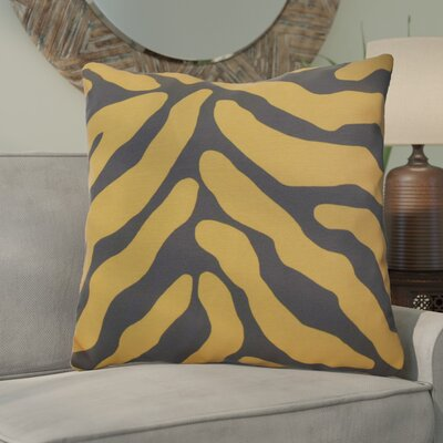 Kam Animal Striped Geometric Euro Pillow Color: Gray