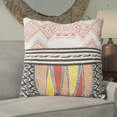 Floriana Cotton Throw Pillow Color: Red