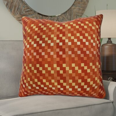Liam Mad for Plaid Geometric Euro Pillow Color: Rust