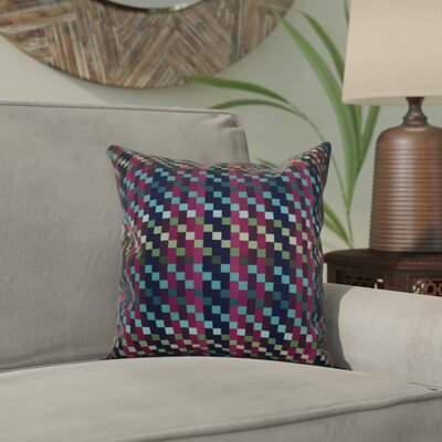 Liam Mad for Plaid Geometric Throw Pillow Size: 18 H x 18 W x 2 D, Color: Purple