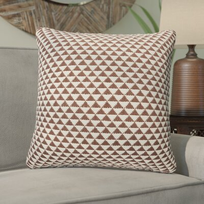 Sophia Cotton Throw Pillow Color: Caviar/Antique White