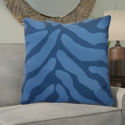 Kam Animal Striped Geometric Euro Pillow Color: Navy Blue