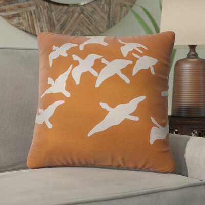 Sophia Animal Print Cotton Throw Pillow Color: Orange