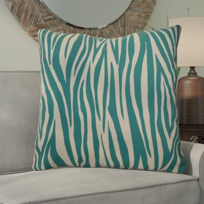 Kam Wood Striped Geometric Euro Pillow Color: Jade