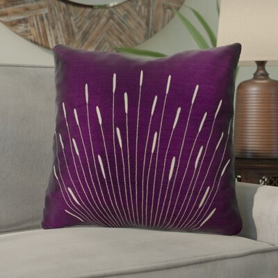 Farrah Silk Throw Pillow Color: Purple