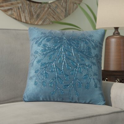 Template Beaded Throw Pillow (Set of 2) Color: Blue/Green