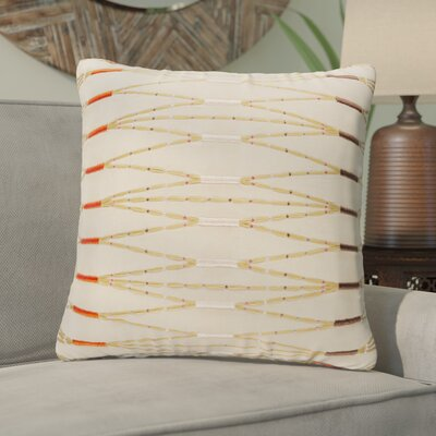 Briar Cotton Throw Pillow Size: 22 H x 22 W x 4 x D, Color: Taupe/Bright Orange