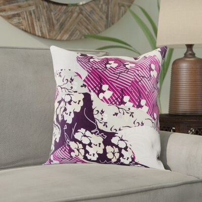 Alois Floral 100% Silk Throw Pillow Cover Size: 20 H x 20 W x 1 D, Color: PurplePurple