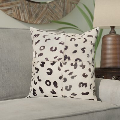 Holton Cow Hide Suede Throw Pillow Size: 18 H x 18 W x 2.5 D