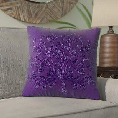 Kofi Beaded Throw Pillow (Set of 2) Color: Purple