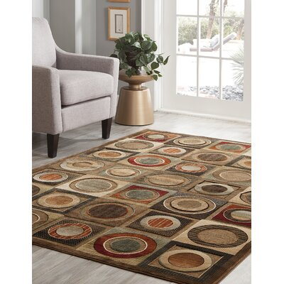 Boulters Black/Ivory Area Rug Rug Size: 5'3