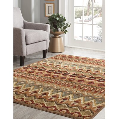 Boulters Tan/Rust/Sage/Blue Area Rug Rug Size: 710 x 112