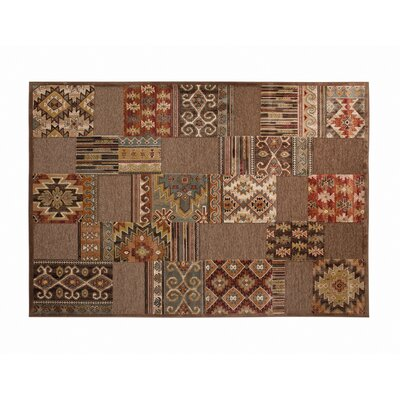 Ancelina Brown/Ivory/Red/Chocolate Area Rug Rug Size: 710 x 112