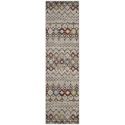 Hedley Light Gray Area Rug Rug Size: Runner 23 x 8