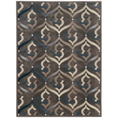 Fulop Brown Area Rug Rug Size: 53 x 73