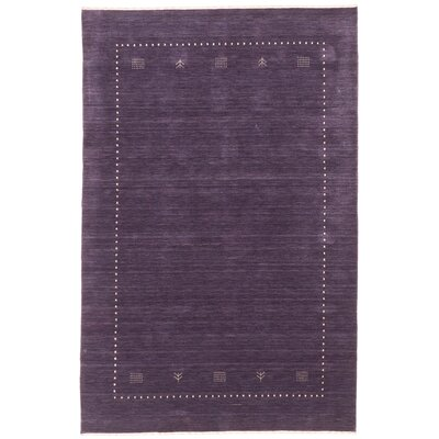 One-of-a-Kind Remy Hand-Knotted Purple Area Rug Rug Size: Rectangle 4 x 6