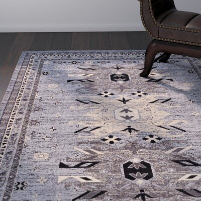 Sina Gray Area Rug Rug Size: Rectangle 9 x 12