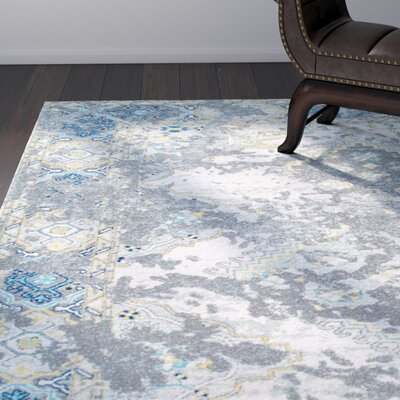 Williamsport Gray Area Rug Rug Size: 9 x 12
