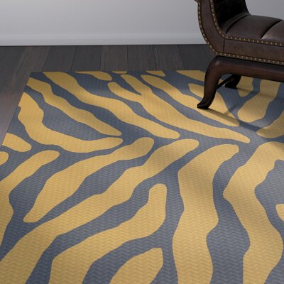 Kam Gray / Gold Indoor/Outdoor Area Rug Rug Size: Rectangle 2 x 3