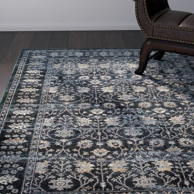 Quenby Navy/Ivory Area Rug Rug Size: Rectangle 910 x 1210