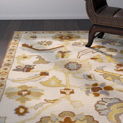 Topaz Hand-Tufted Beige Area Rug Rug size: Rectangle 2 x 4