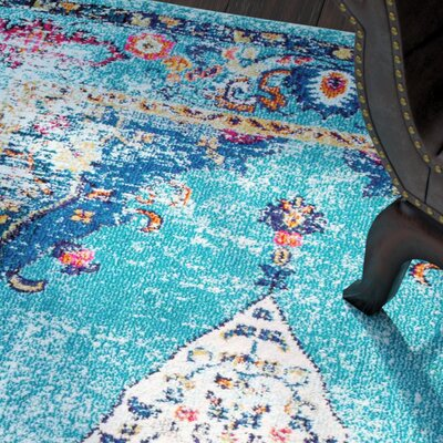 Wallingford Aqua Area Rug Rug Size: Rectangle 4 x 6