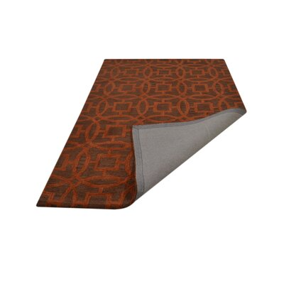 Bradford Hand-Woven Wool Brown/Orange Area Rug Rug Size: Rectangle�5 x 8