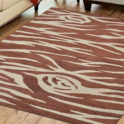 Bowen Hand-Tufted Wool Cream/Red Area Rug Rug Size: 4 x 6