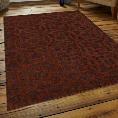 Bradford Hand-Tufted Wool Brown/Orange Area Rug Rug Size: 8 x 11