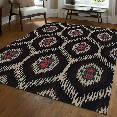 Brandt Hand-Tufted Wool Brown/Beige Area Rug Rug Size: Rectangle 5 x 8