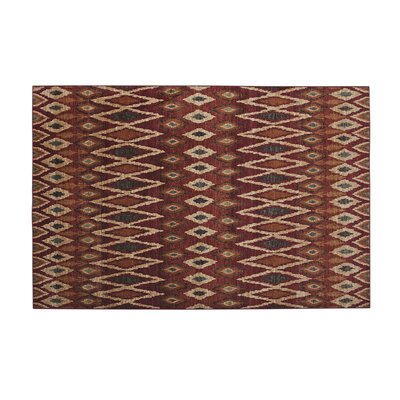 Borderlands Rust/Red Area Rug Rug Size: 710 x 112