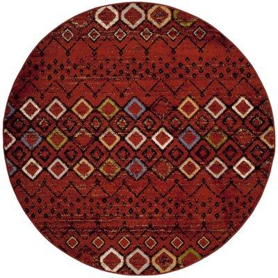 Vadim Terracotta Area Rug Rug Size: Round 67