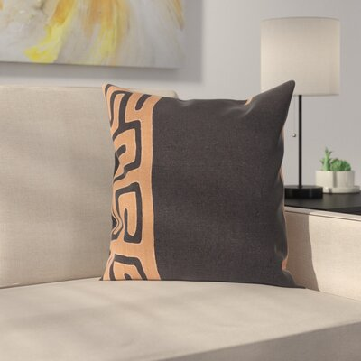 Bomaderry 100% Linen Throw Pillow Cover Size: 20 H x 20 W x 1 D, Color: Burnt OrangeBlack