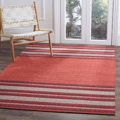 Bokara Hills Hand-Woven Red/Ivory Area Rug Rug Size: Rectangle 2'6