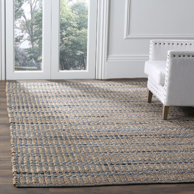 Bowen Hand-Woven Brown/Blue Area Rug Rug Size: Square 6