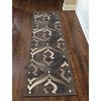 Fulop Brown Area Rug Rug Size: Runner 22 x 77