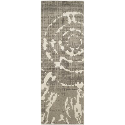 Chaima Gray/Ivory Area Rug Rug Size: Rectangle 82 x 11