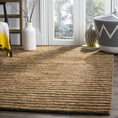 Elaine Handmade Brown Area Rug Rug Size: Rectangle 4 x 6